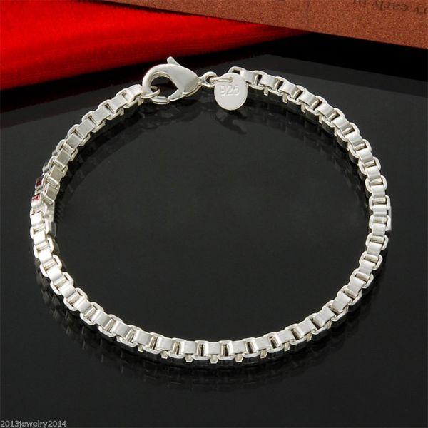 Neu Mode Unisex Armband Silber 925 Plattiert Einfach Design Schmuck Restposten
