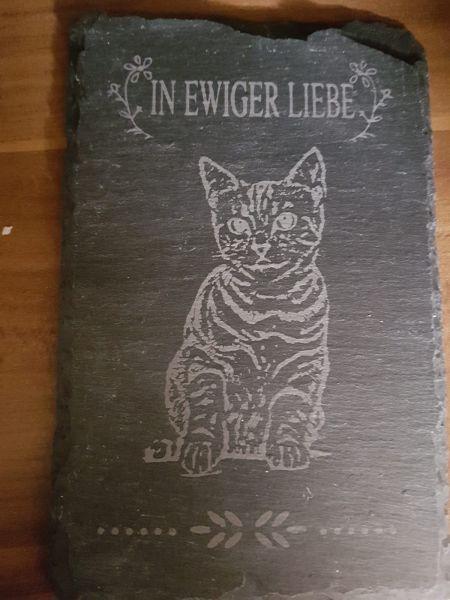 Grabstein für Katzen Schiferplatte Neu