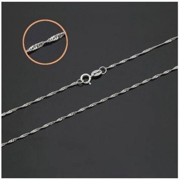 5 Stück Ketten Silber 925 Plattiert Wellen Halsketten NEU Restposten 55 cm lang