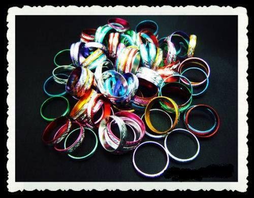 100 Ringe Neu bunde Mischung