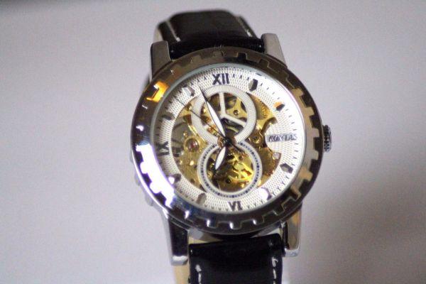 Damen Herren Uhr Automatik Armbanduhr Analog Lederband Schwarz Restposten NEU
