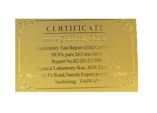 GOLD Zertifikat für BANKNOTEN 24 K GOLD NEU Restposten Certificate
