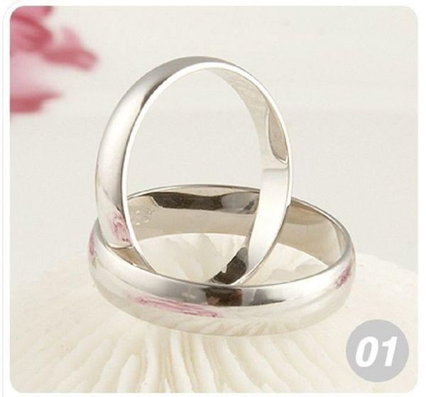 10 Stück Ringe 925 Silber plattiert Schmuck NEU Restposten Größe 6-8