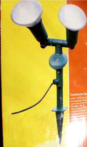 Scheinwerfer La Cultura 2x 120 Watt Wasserdicht Automatisch NEU Restposten (Versand nur in Deutschla